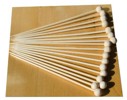 Wooden ball on a stick wood skewer 14cm x100  GOTO